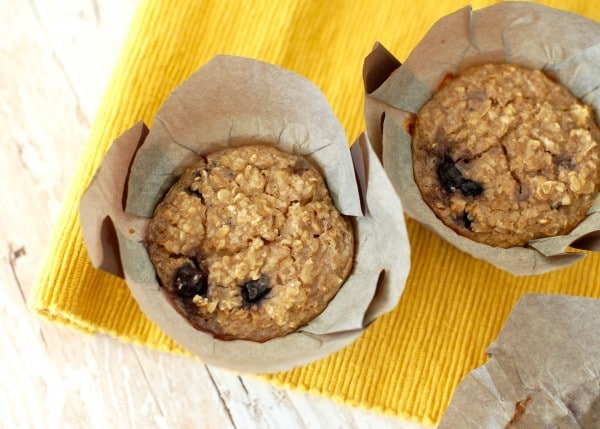 Healthy Snacking Muffins Overhead