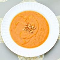 Bowl of Butternut Squash and Sweet Potato Soup
