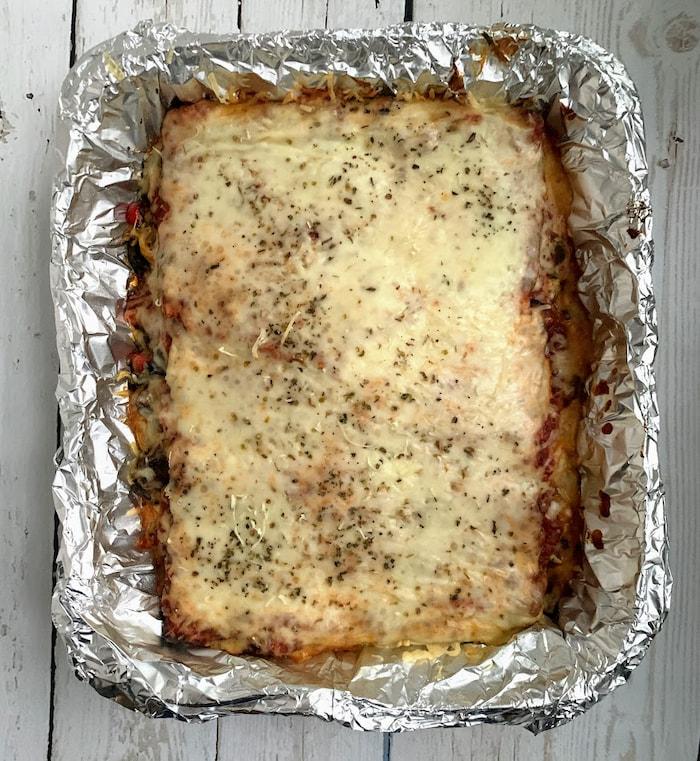 matzo lasagna in pan