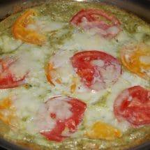 Tomato-Basil Mozzarelle Frittata