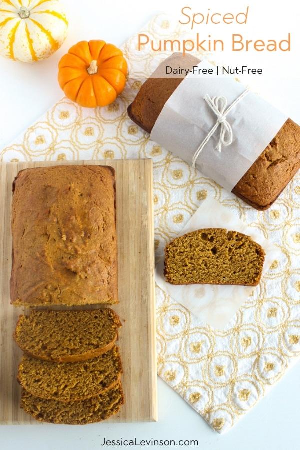 dairy-free nut-free healthier spiced pumpkin bread