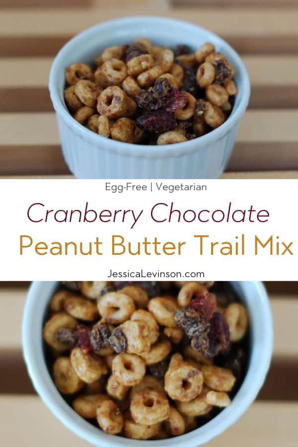 Peanut Butter Trail Mix Recipe Collage with Text Overlay