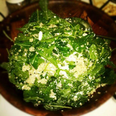 Kale and Quinoa Salad (adapted from AllRecipes.com)