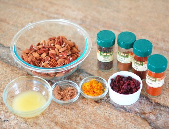Ingredients for Orange-Scented Nuts
