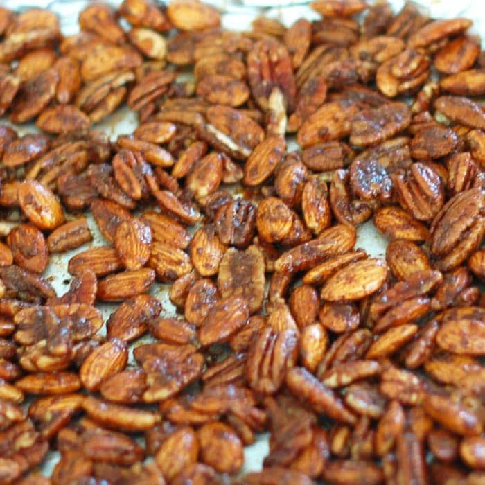 Orange-Scented Nuts on Sheet Pan