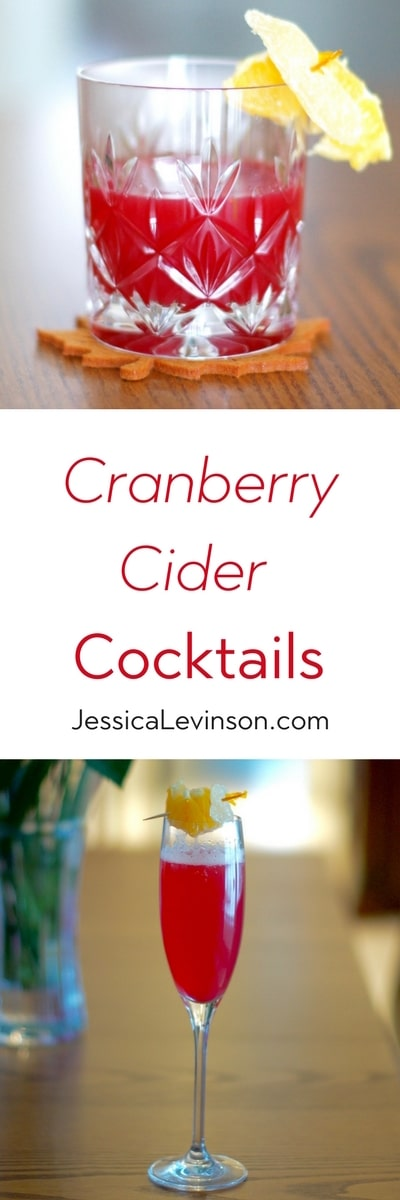 Warm up with a Cran-Toddy or stay refreshed with a Cranberry Cider Cooler - two cranberry cider cocktail recipes to enjoy all winter long!