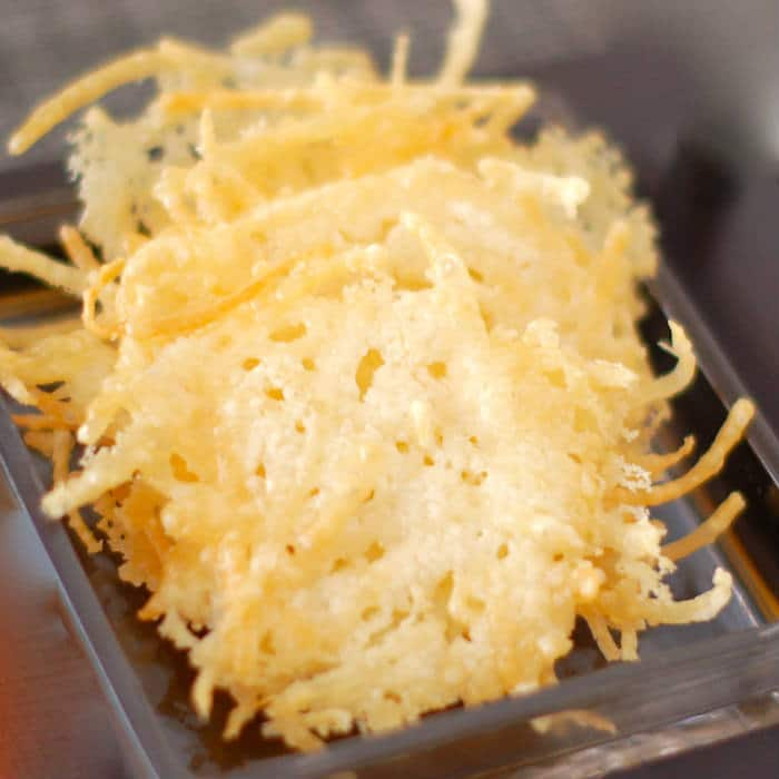 Quick and Easy Parmesan Crisps Close Up