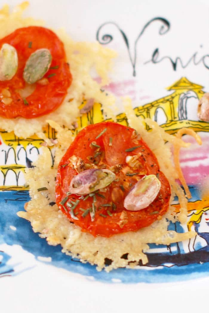 Quick and Easy Parmesan Crisps with Tomato