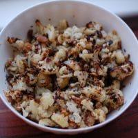 Rosemary-Roasted Cauliflower w Raisins