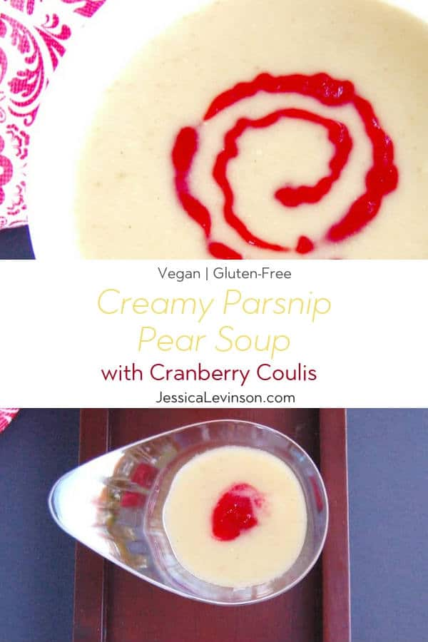 Creamy Parsnip Pear Soup Recipe with Text Overlay