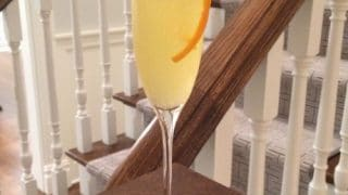 Orange French 75 Champagne Cocktail