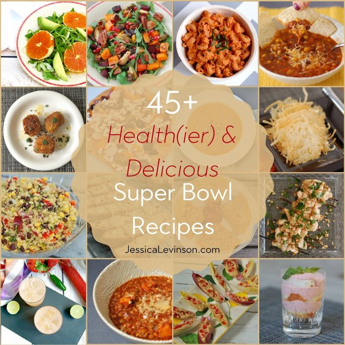 Get in the game with healthier and delicious Super Bowl recipes and healthy eating tips!