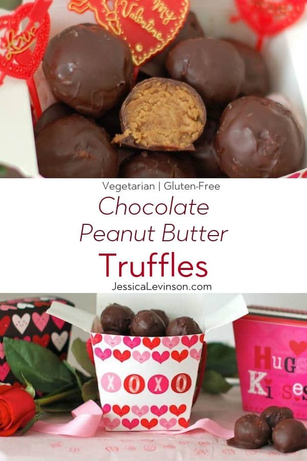 Chocolate Peanut Butter Truffles with Text Overlay