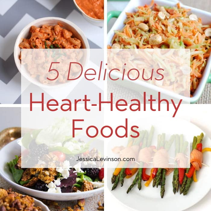 Heart-Healthy Foods Collage with Text Overlay Square