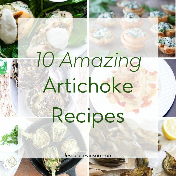 Artichoke Recipe Roundup Square with Text