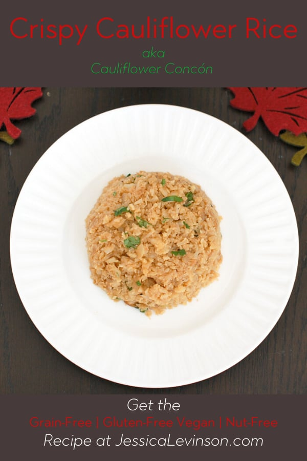 vegan grain-free crispy cauliflower rice