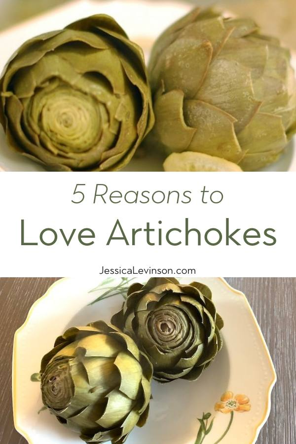 Love Artichokes with Text Overlay