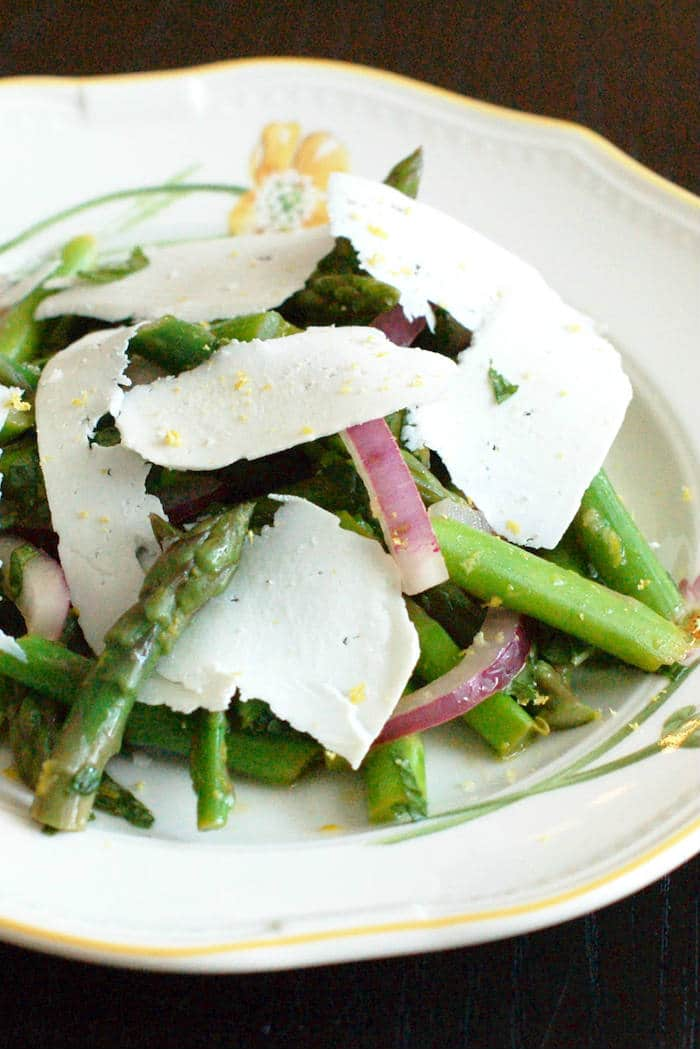 Asparagus Mint Salad on Plate