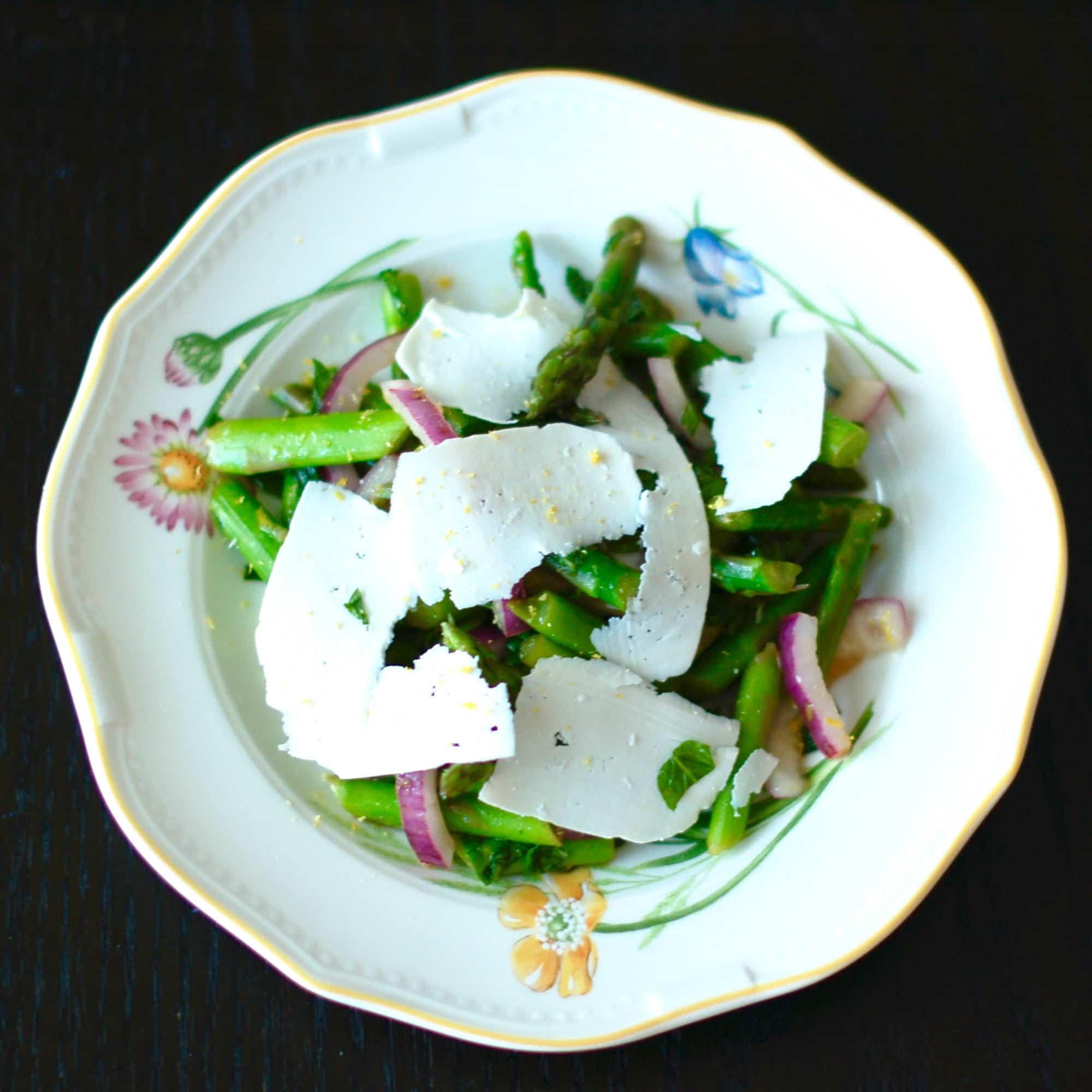 Asparagus Mint Salad Overhead