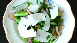 Asparagus Mint Salad with Lemon Vinaigrette