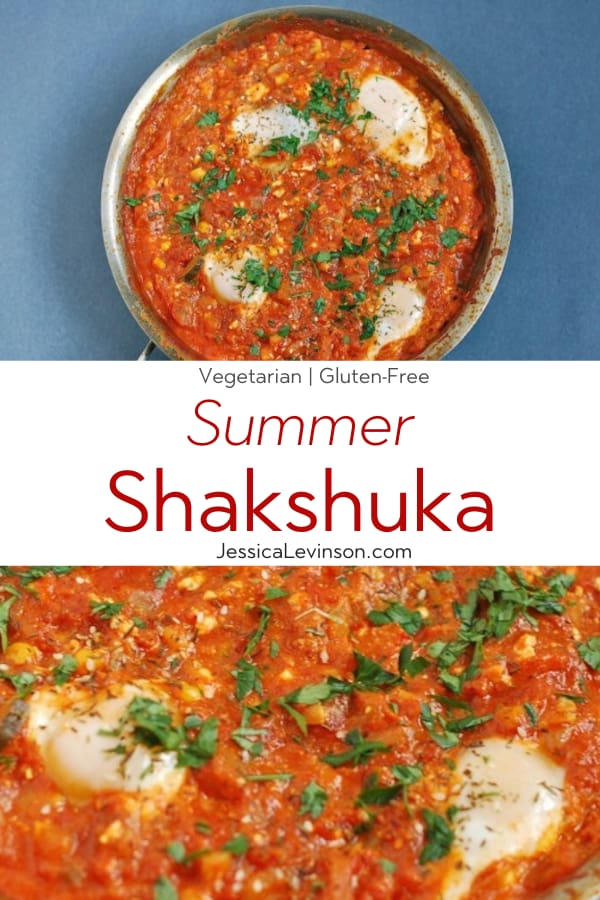 Summer Shakshuka Recipe Collage with Text Overlay