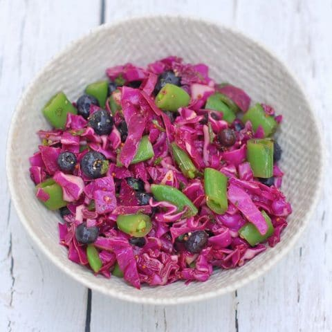 Red Cabbage Blueberry Salad