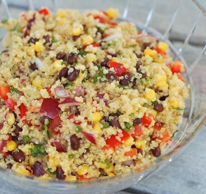 Corn and Black Bean Quinoa Salad Close Up