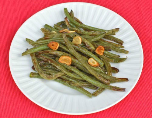 Garlicky Green Beans on Plate