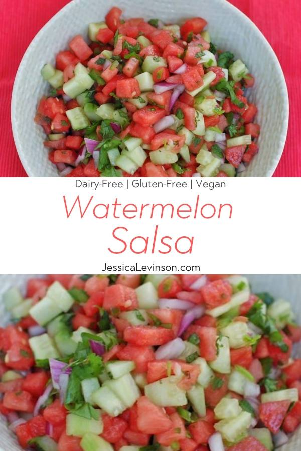 Watermelon Salsa Recipe Collage with Text Overlay