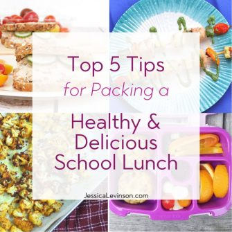 Tips for Packing a Healthy and Delicious School Lunch Square Collage with Text Overlay