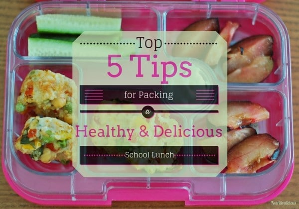 Packing lunch for the kids doesn't have to be a chore. Keep school lunch nutritious, delicious, and varied with these five tips! @jlevinsonRD