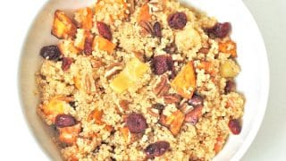 Spiced Quinoa with Roasted Apples & Root Vegetables