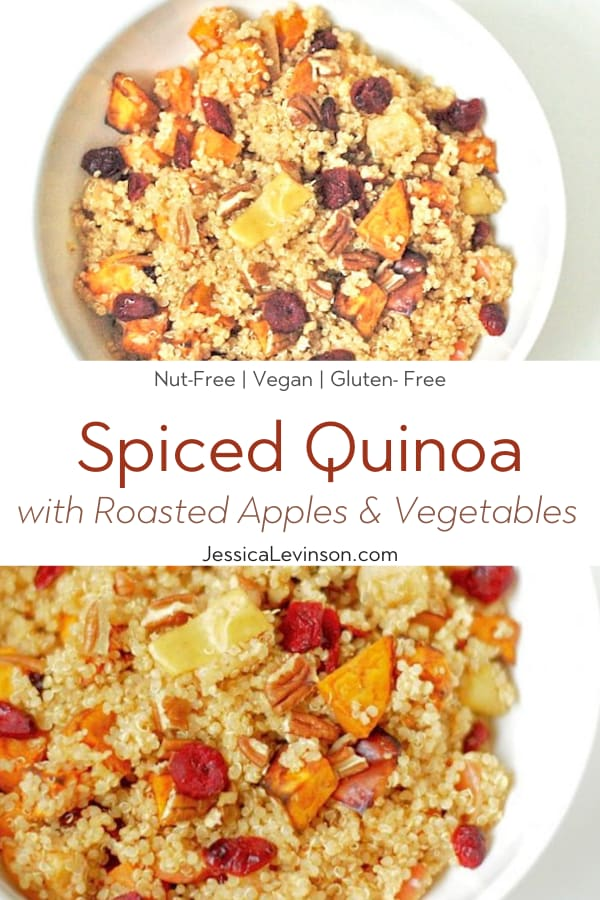 Spiced Quinoa Collage with Text