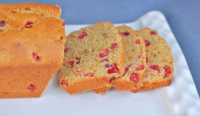 Sliced Cranberry Orange Bread