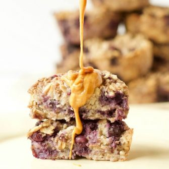 Ricotta Berry Oatmeal Cups Peanut Butter Drizzle