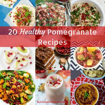 20+ Healthy Pomegranate Recipes | Nutritioulicious