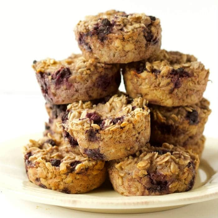 Ricotta Berry Oatmeal Cups on Plate
