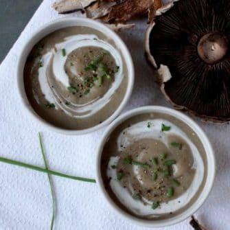 Creamy Pureed Mushroom Soup | Nutritioulicious