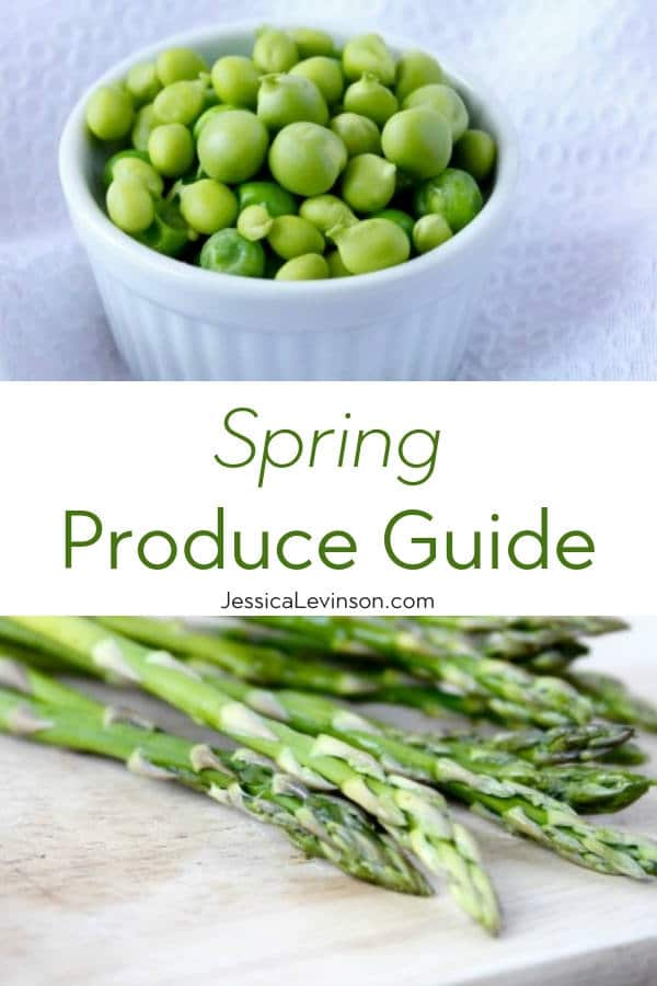 Spring Produce Guide with Text Overlay