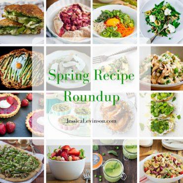 spring recipe roundup collage