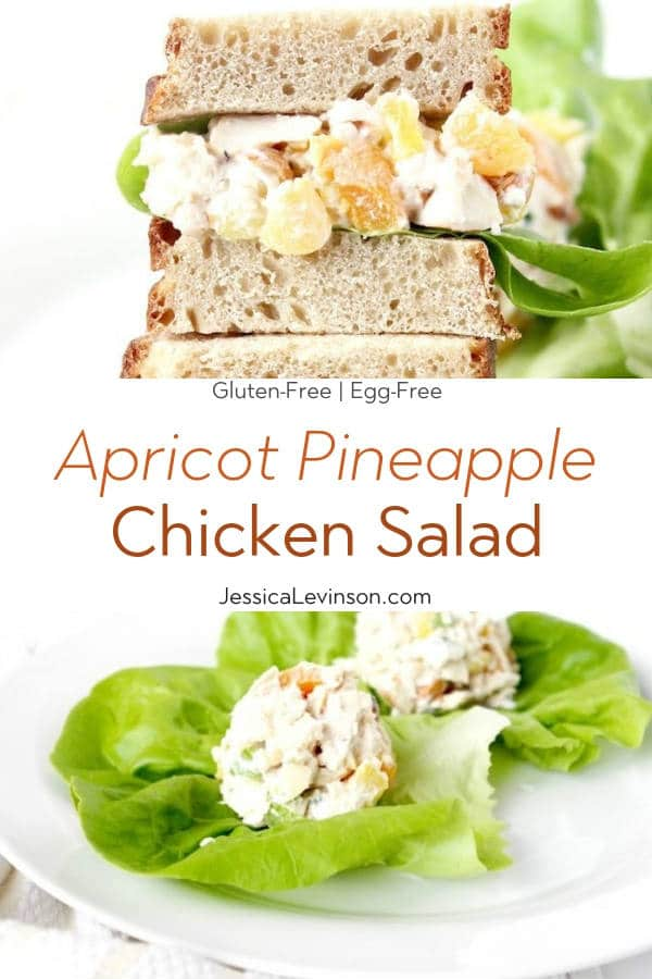 Apricot Pineapple Chicken Salad with Text Overlay