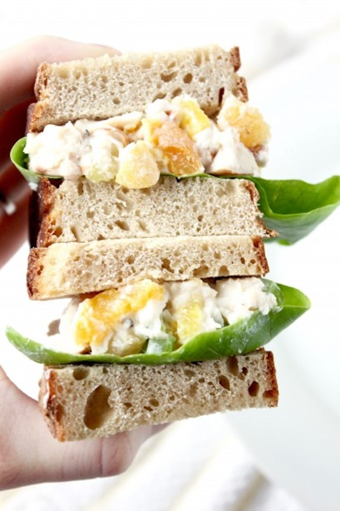 Apricot Pineapple Chicken Salad Sandwich