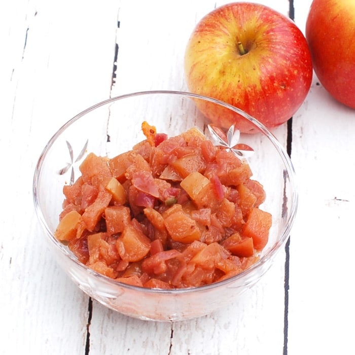 lower sugar homemade apple chutney