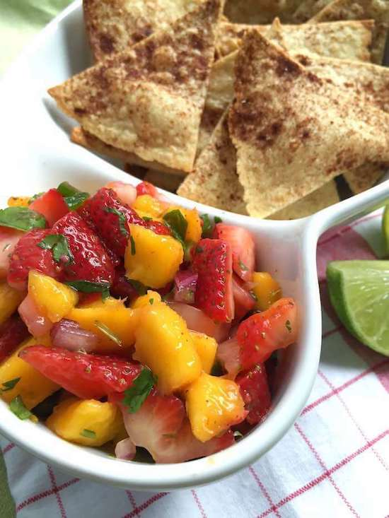 Homemade Picnic Recipes Strawberry Mango Salsa