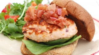 Grilled Fresh Salmon Burgers