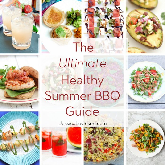 Enjoy cookouts without sacrificing fun or flavor with this ultimate healthy summer barbecue guide including recipes, cooking tips, and more!