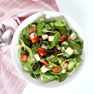 Spinach Salad with Jicama Overhead_7843