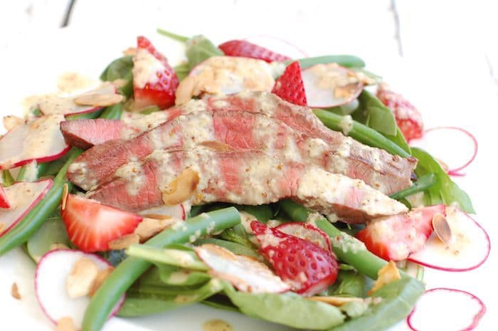 Summer Steak Salad Recipe Close Up