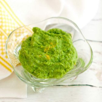 Minty Pea Dip Recipe in Glass Bowl