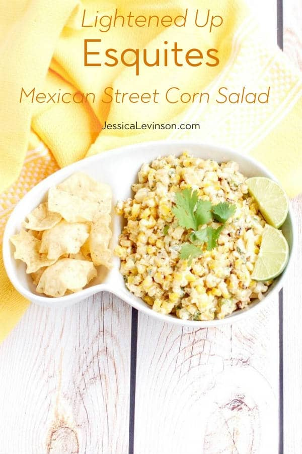 Esquites Mexican Street Corn Salad with Text Overlay